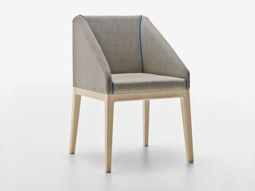 Upholstered chair with armrests SLOW | Chair with armrests - Passoni Nature