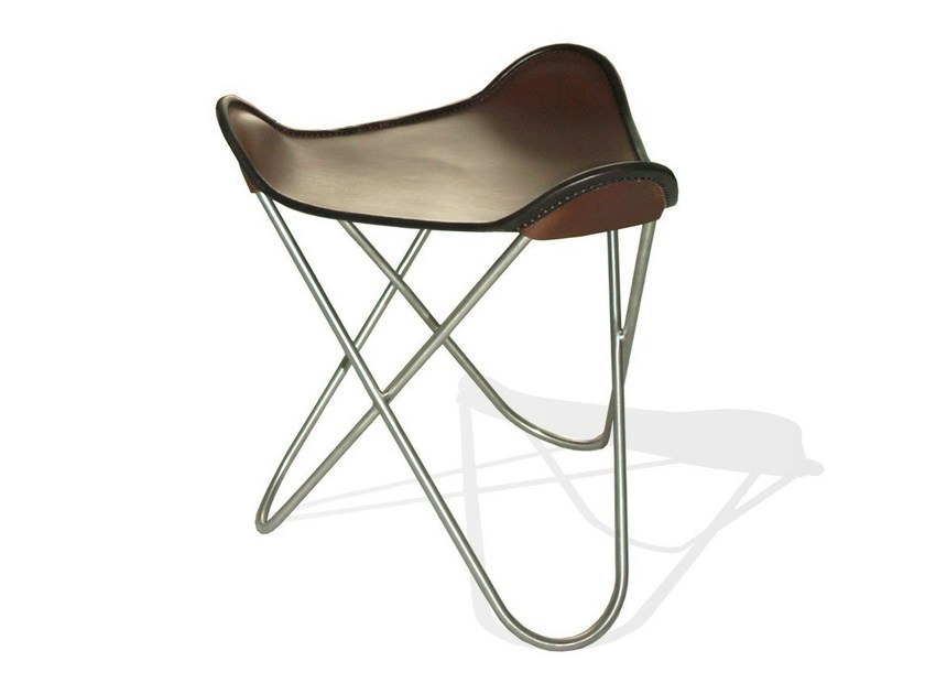 Leather footstool OTTOMAN FOR HARDOY BUTTERFLY CHAIR - WEINBAUM