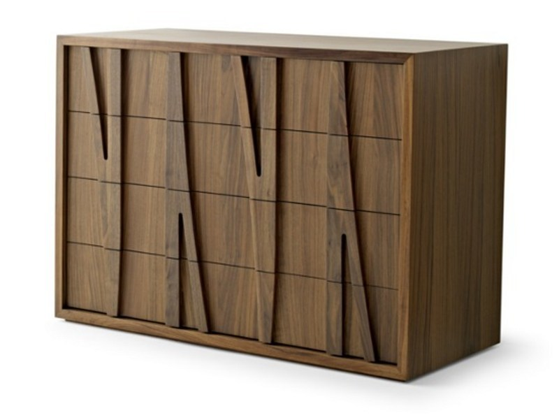 Solid wood highboard with drawers MORAAR | Highboard - Passoni Nature