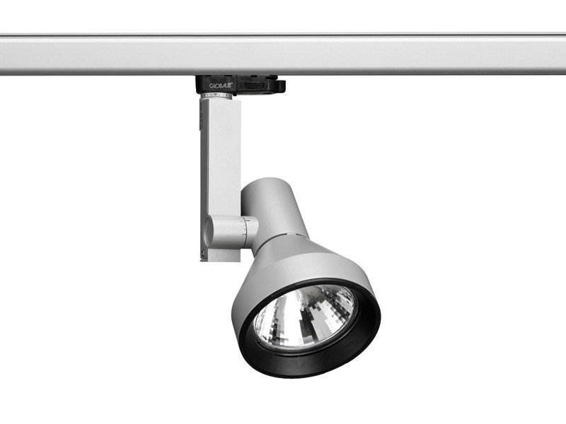 Adjustable aluminium track-light COMPASS SPOT | Track-light - FLOS