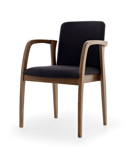Stackable wooden chair with armrests ULISSE - Passoni Nature