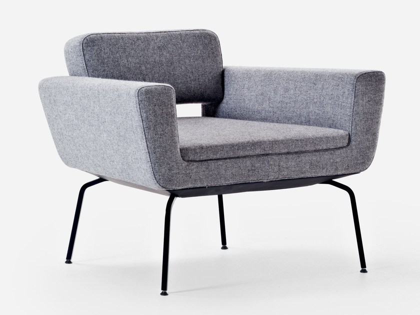 Fabric armchair with armrests SERIE 50 | Armchair with armrests - La Cividina