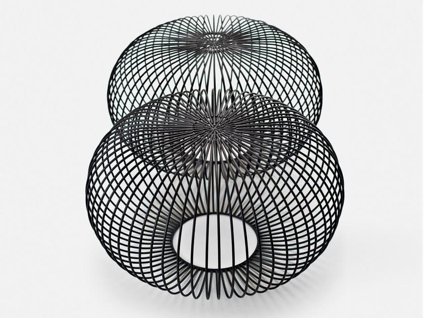 Steel pouf / coffee table PLOFF by La Cividina