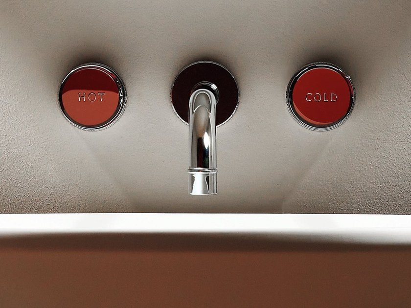 3 hole wall-mounted washbasin tap SAVOIR | Wall-mounted washbasin tap - ZUCCHETTI