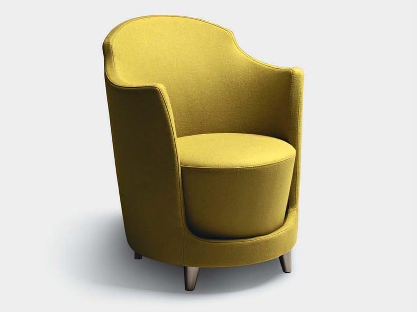 Guest chair with armrests FOLIES | Armchair - La Cividina