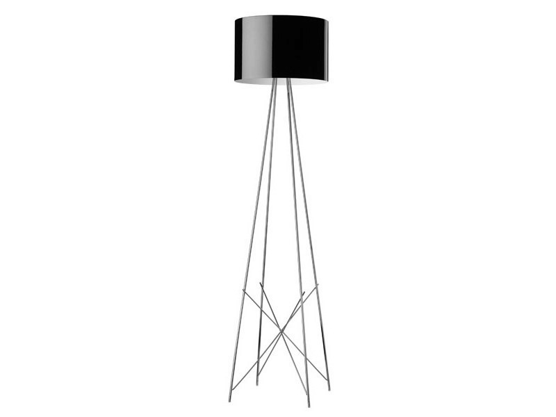 Chrome plated floor lamp RAY F by FLOS