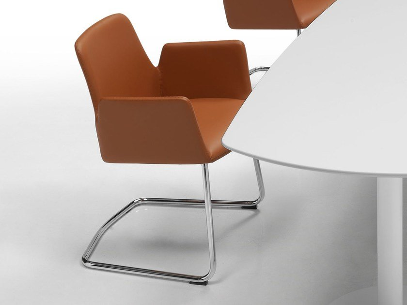 Cantilever leather easy chair ALTEA | Cantilever easy chair - Inclass Mobles