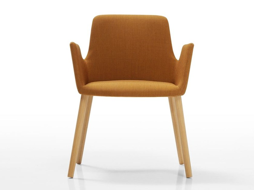 Wooden easy chair with armrests ALTEA | Wooden easy chair - Inclass Mobles