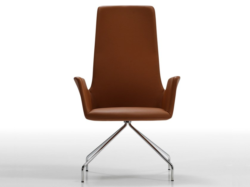 Design trestle-based high-back chair ALTEA | High-back chair - Inclass Mobles