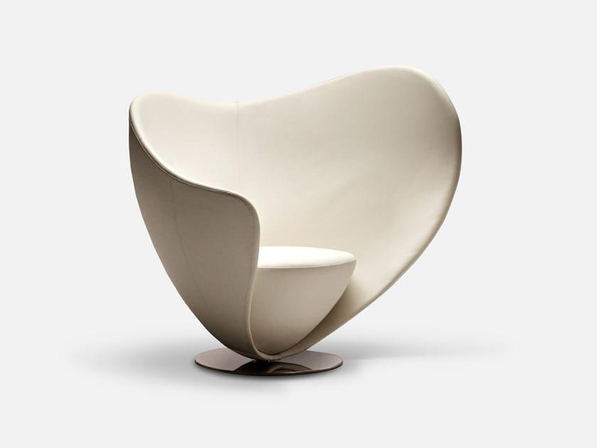 Swivel fabric guest chair MON COEUR | Armchair - La Cividina