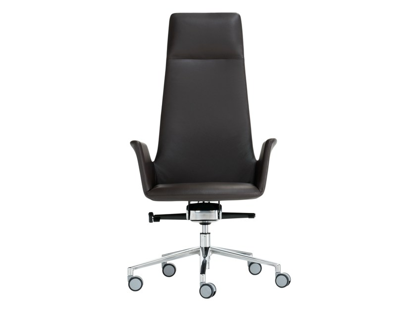 Height-adjustable task chair with 5-Spoke base with casters ALTEA OFFICE | Task chair - Inclass Mobles