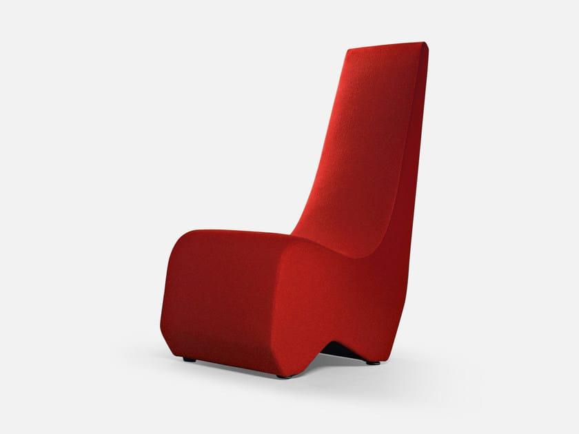 High-back guest chair STONES | High-back armchair by La Cividina