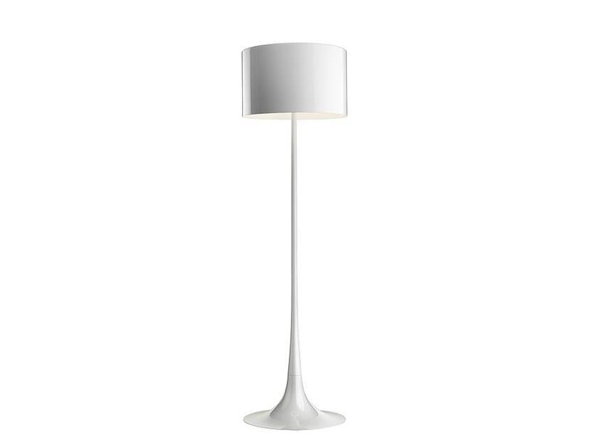 Die cast aluminium floor lamp SPUN LIGHT F - FLOS