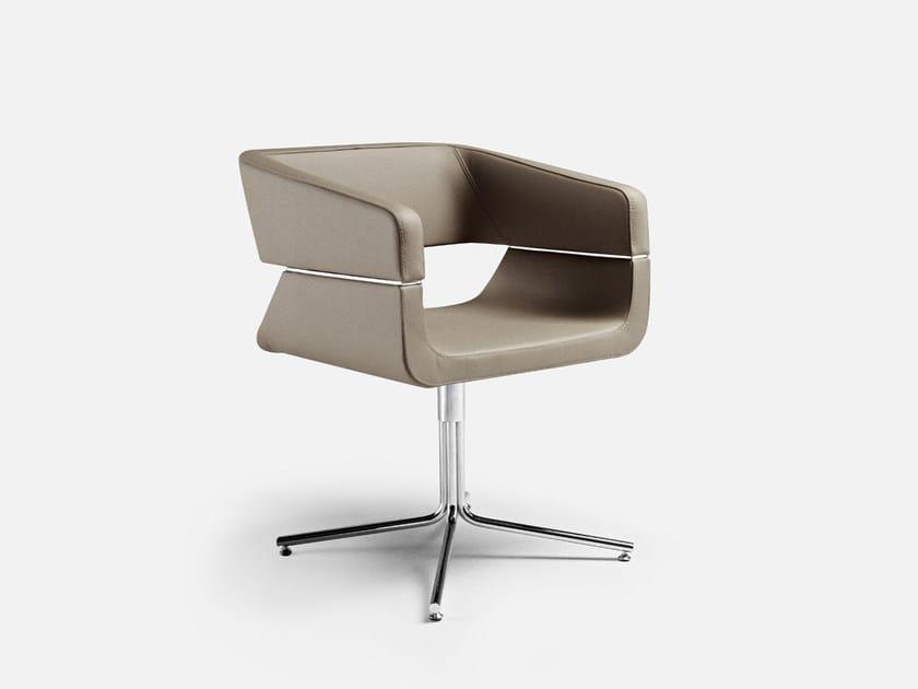 Swivel easy chair with 4-spoke base MATRIX | Swivel easy chair - La Cividina