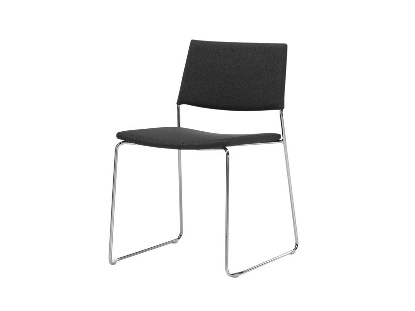 Sled base upholstered chair TEN | Sled base waiting room chair by Inclass Mobles