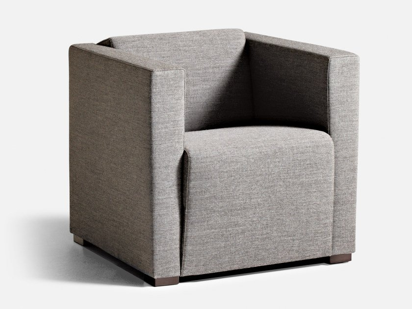 Fabric guest chair with armrests CUBUS | Armchair - La Cividina