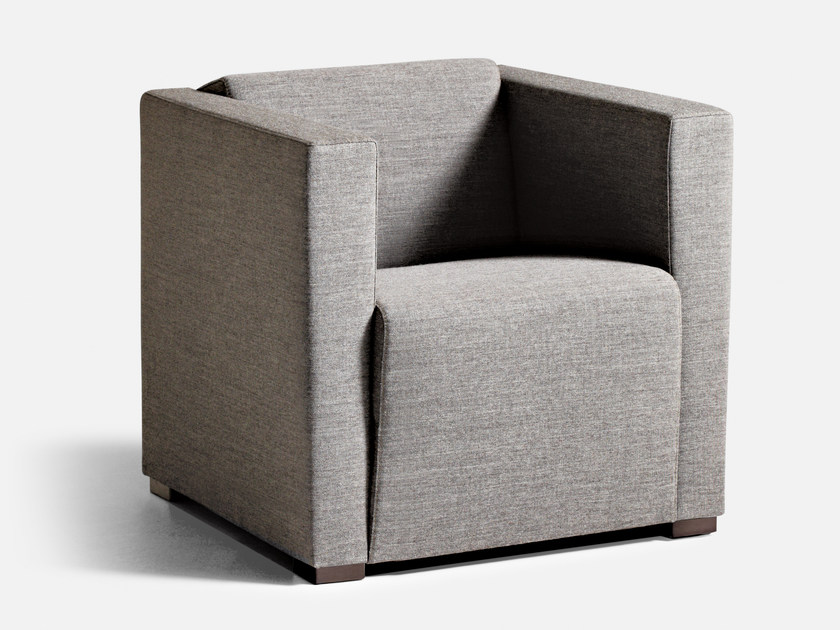 Fabric guest chair with armrests CUBUS | Armchair by La Cividina