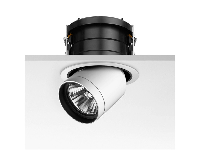 Halogen adjustable aluminium spotlight PURE DOWNLIGHT - FLOS