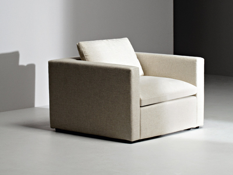 Fabric armchair with armrests PUZZLE | Armchair by La Cividina