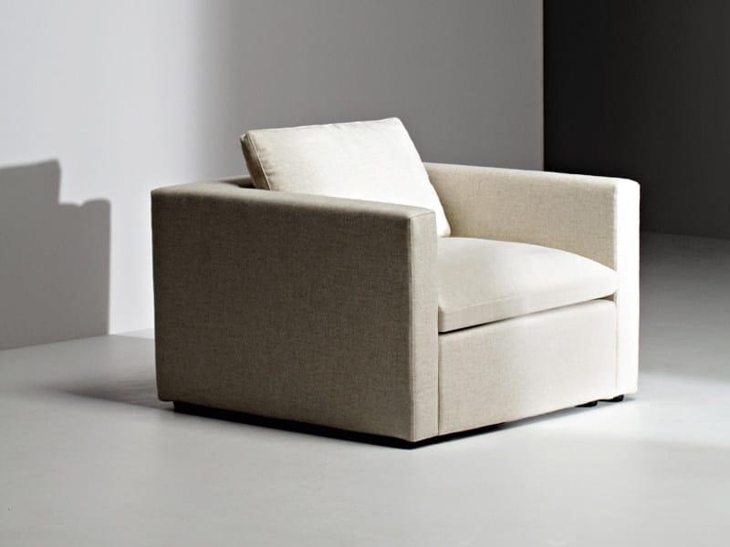 Fabric armchair with armrests PUZZLE | Armchair - La Cividina