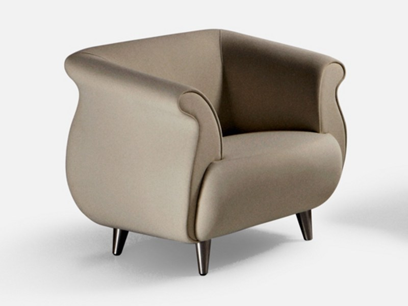 Fabric guest chair with armrests GENESIS | Armchair by La Cividina