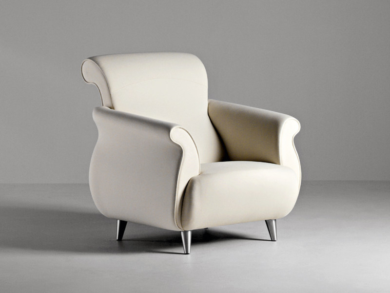 Fabric guest chair with armrests GENESIS | Fabric armchair - La Cividina
