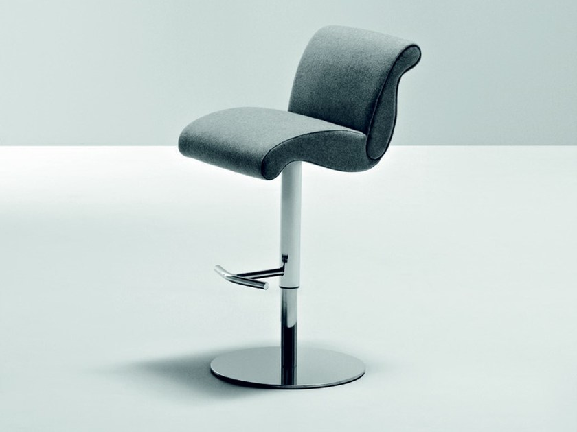 Swivel counter stool with footrest GENESIS | Counter stool - La Cividina
