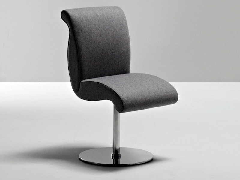 Swivel upholstered fabric chair GENESIS | Swivel chair - La Cividina