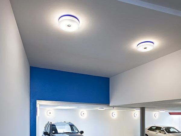 Polycarbonate ceiling lamp BUTTON | Ceiling lamp - FLOS