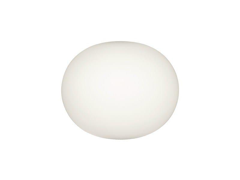 Opal glass wall light GLO-BALL W by FLOS