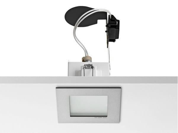 Halogen ceiling recessed die cast aluminium spotlight MICRO BATTERY - FLOS