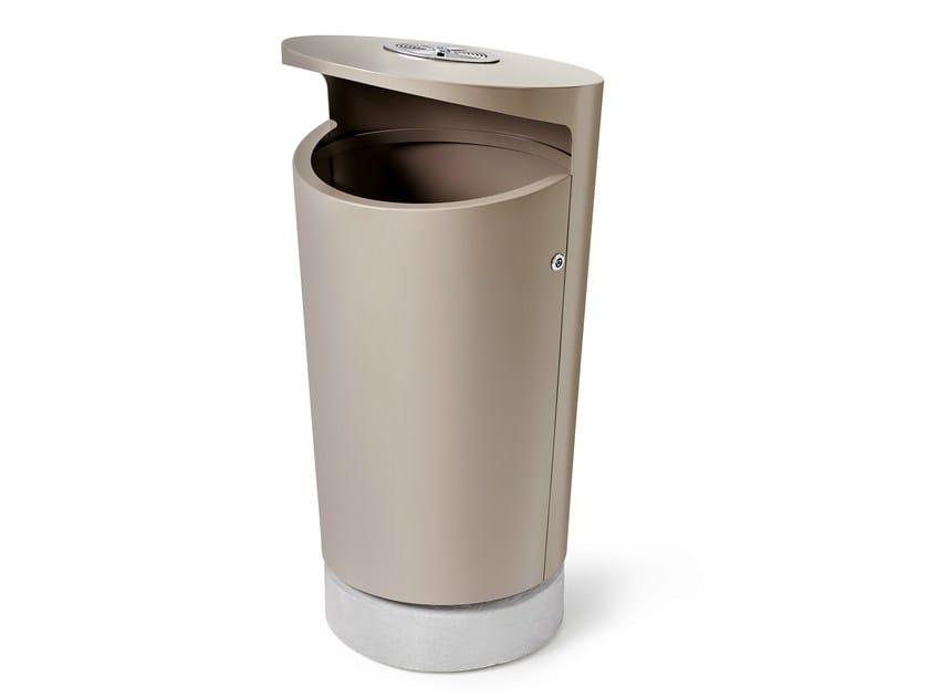 Powder coated steel waste bin ELBIN - Nola Industrier