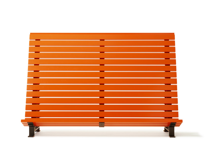 Steel and wood outdoor chair KAJEN PLANKA - Nola Industrier