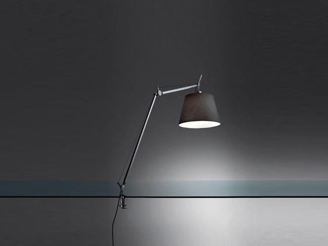 Fabric clamp light TOLOMEO TABLE MEGA - Artemide Italia