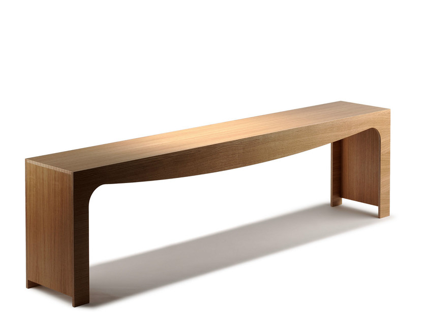 Backless wooden bench seating TOSCA | Wooden bench seating - Nola Industrier