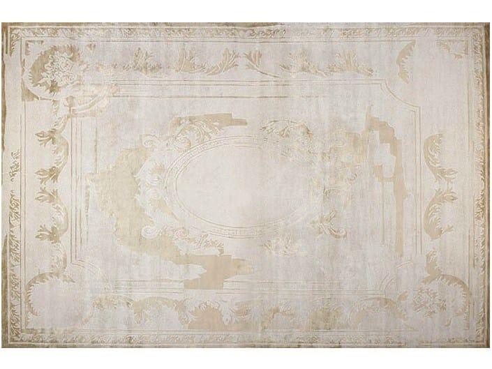 Handmade rectangular rug FONTENAY NEW AGE PLATINE - EDITION BOUGAINVILLE