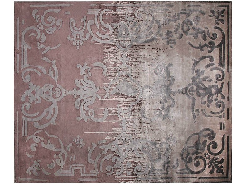 Handmade rectangular rug MAGELLAN SHADOW VINTAGE PURPLE - EDITION BOUGAINVILLE