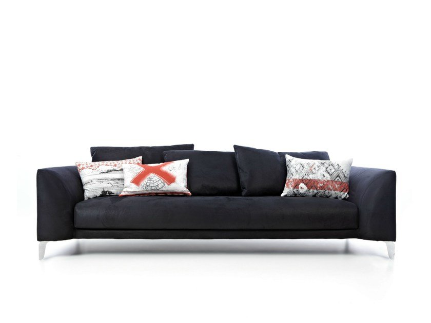 4 seater sofa with removable cover CANVAS SOFA - Moooi©