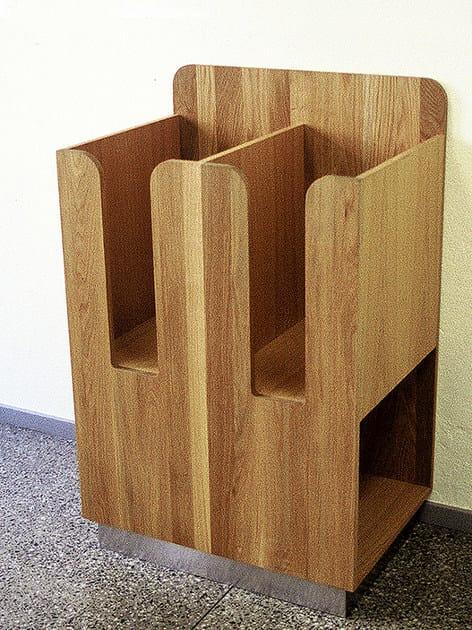 Floor-standing oak display unit for brochures TÄBY   Display unit for brochures - Nola Industrier