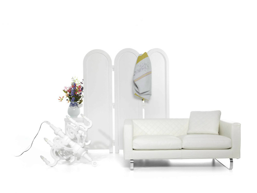 Sofa with fire retardant padding BOUTIQUE LEATHER | 2 seater sofa - Moooi©