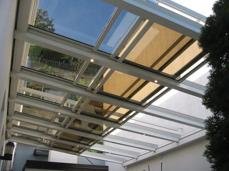 Tettoia in alluminio per giardini d 39 inverno sunroof - Giardini d inverno immagini ...