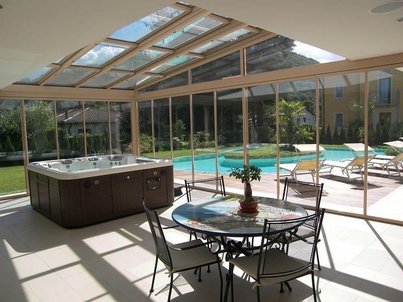 Tettoia in alluminio per giardini d 39 inverno sunroof - Como pintar un techo ...