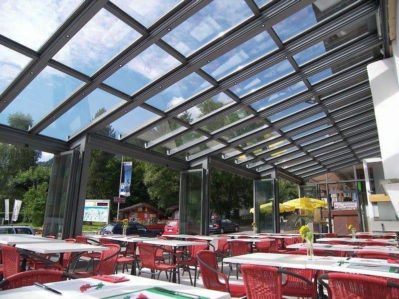 Teto de alumínio para jardins de inverno SUNROOF copertura mobile by FRUBAU