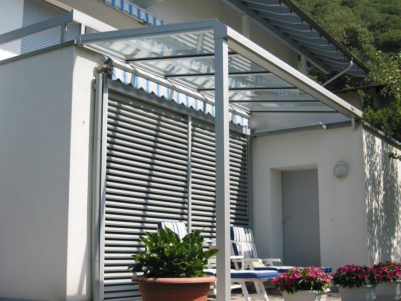 Tettoia in alluminio e vetro Coperture fisse - FRUBAU