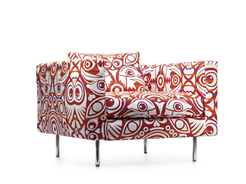 Armchair with armrests BOUTIQUE EYES OF STRANGERS | Armchair by moooi