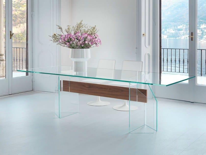Rectangular glass table DOGE - SOVET ITALIA