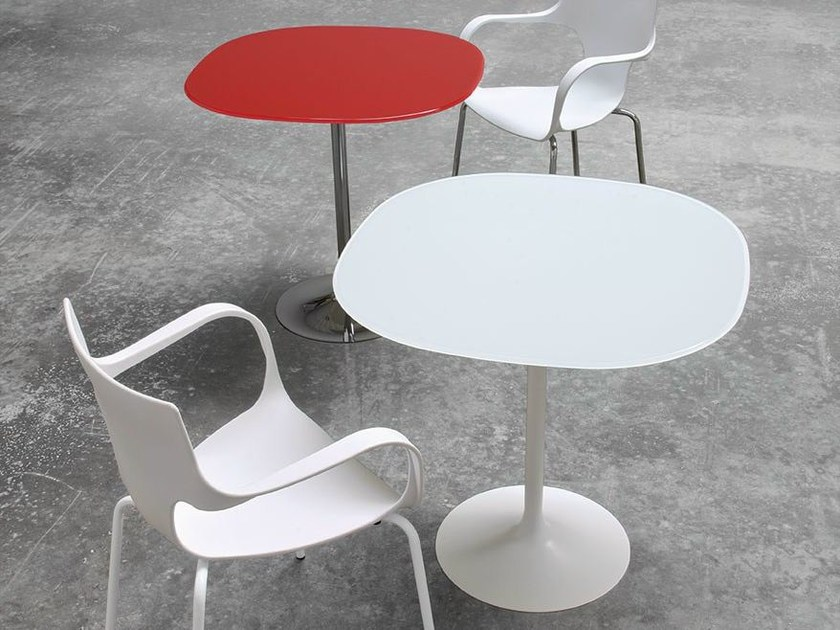 Round glass contract table FLÛTE BAR - SOVET ITALIA