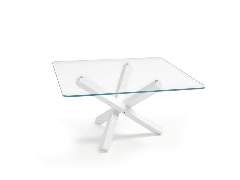 Square glass table AIKIDO SQUARE - SOVET ITALIA