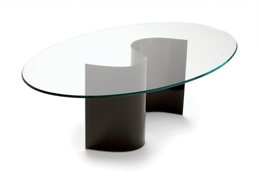 Oval crystal table LIVE - SOVET ITALIA