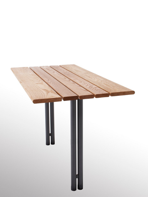 Steel and wood Table for public areas BUDGET | Table for public areas - Nola Industrier